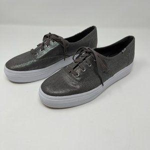 Keds triple metallic platform sneaker Ortholite